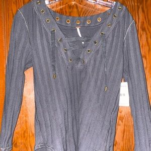 NWT Free People Ice Cold 3/4 Sleeve T-Shirt